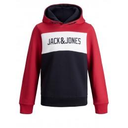 JJELOGO BLOCKING SWEAT HOOD JACK AND JONES GARCONS