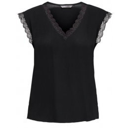 ONLJASMINA S/S LACE TOP FR WVN ONLY Accueil