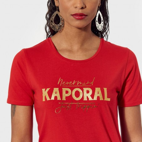 WOMAN KNITTED SHORT SLEEVED T-SHIRT KAPORAL Accueil